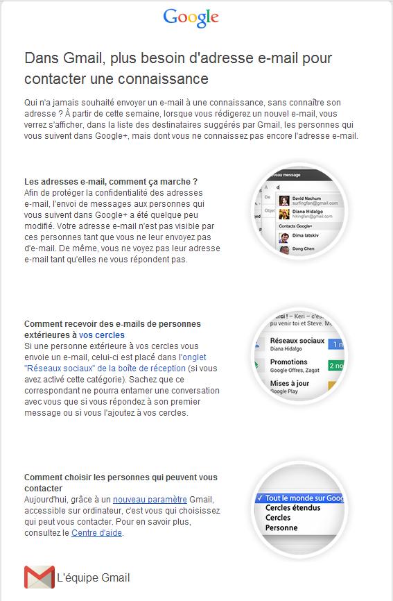Dans Gmail, plus besoin d'adresse e-mail pour contacter une connaissance - Pierre Legeay