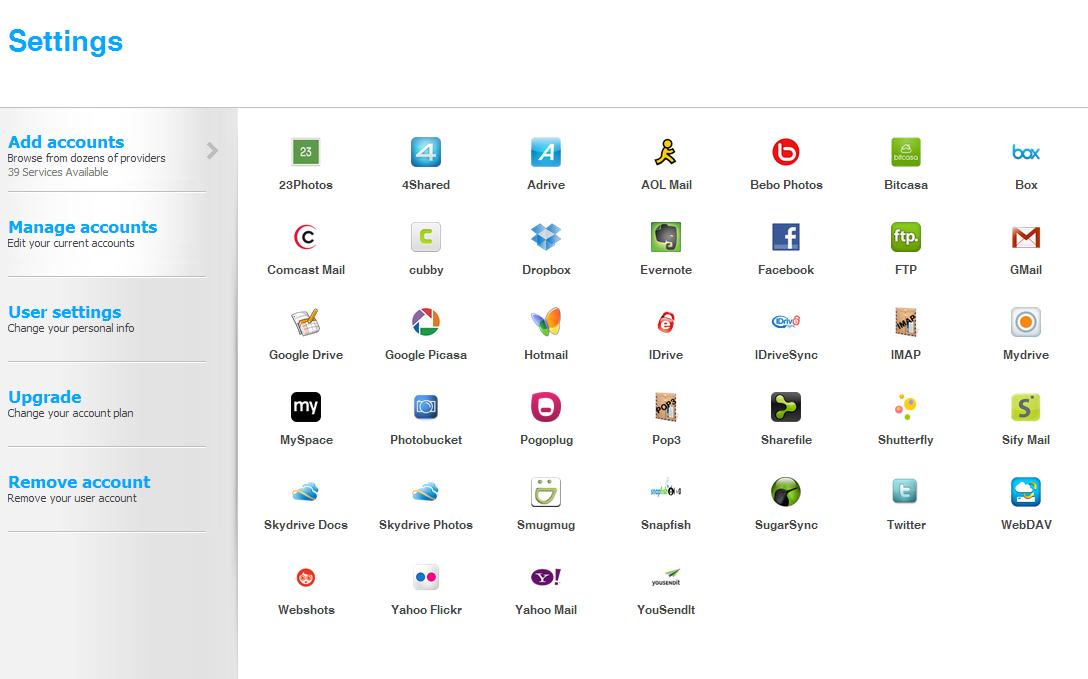 Les plateformes disponibles sur Primadesk